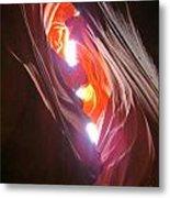 Looking Up In Antelope Canyon Metal Print