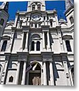 Looking Up St Louis Cathedral Metal Print