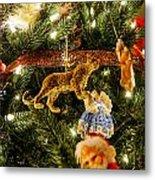 Looking Up The Christmas Tree Metal Print