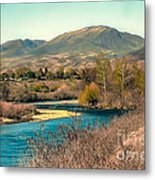 Looking Up The Payette River Metal Print