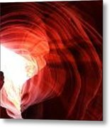 Looking Up Through Antelope Canyon Metal Print