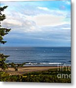 Looking West At The Fishing Boats Metal Print