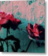 Looks Like Painted Roses Abstract Metal Print