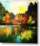 Autumn In Loon Country Ll Metal Print