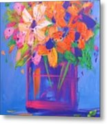Loosey Goosey Flowers Metal Print