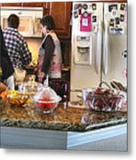 Lorna Kitchen Busy2 2009 Metal Print