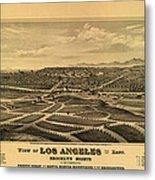 Los Angeles 1877 Metal Print