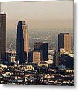 Los Angeles In Silver Light Metal Print