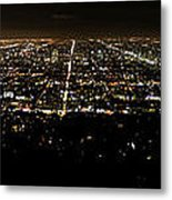 Los Angeles At Night Metal Print