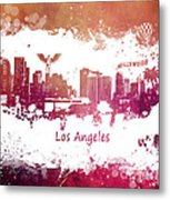 Los Angeles California Skyline Metal Print