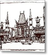 Hollywood's Chinese Theater Landmark.          Metal Print