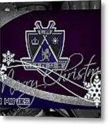 Los Angeles Kings Christmas Metal Print