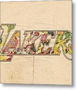 Los Angeles Lakers Logo Art Metal Print