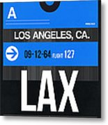 Los Angeles Luggage Poster 3 Metal Print