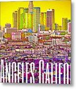 Los Angeles Postcard Metal Print