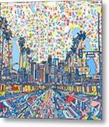 Los Angeles Skyline Abstract 3 Metal Print