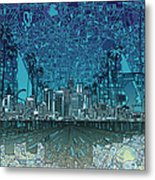 Los Angeles Skyline Abstract 5 Metal Print