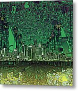 Los Angeles Skyline Abstract 6 Metal Print