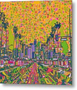 Los Angeles Skyline Abstract Metal Print