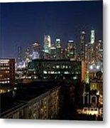 Los Angeles Skyline At Dusk Metal Print