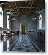 Los Angeles Union Station Original Ticket Lobby Metal Print