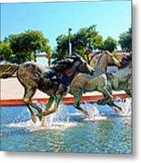 Los Colinas Mustangs 14698 Metal Print