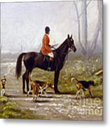 Losing The Scent Metal Print by John Silver