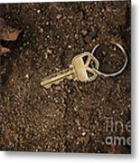 Lost And Found Key Metal Print