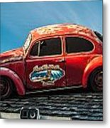 Lost Beetle Metal Print