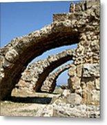 Lost City Of Salamis Cyprus  Metal Print