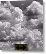 Lost In The Storm Metal Print