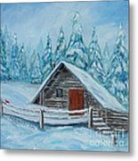 Lost Mountain Cabin Metal Print