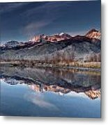 Lost River Mountains Winter Reflection Metal Print