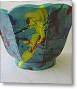 Lotus Bowl Plant Pot Ceramic Metal Print