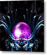 Lotus Crystal Metal Print