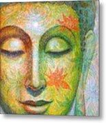 Lotus Meditation Buddha Metal Print