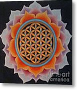 Lotus Of Life Metal Print