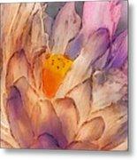 Lotus Watercolor Metal Print by Jill Balsam