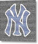 Lou Gehrig Speech Mosaic Metal Print