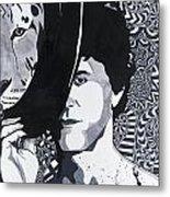 Lou Reed In Pools Metal Print