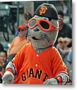 Lou Seal San Francisco Giants Mascot Metal Print