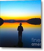 Lough Erne Sunset Metal Print