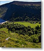 Lough Tay Below Luggala Mountain Metal Print