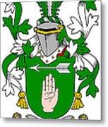 Loughnan Coat Of Arms Irish Metal Print