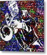 Louie Armstrong Metal Print by Jack Zulli