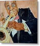 Louis Armstrong 1 Metal Print by Katie Spicuzza