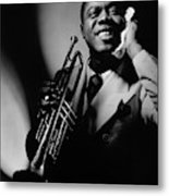 Louis Armstrong Holding A Trumpet Metal Print