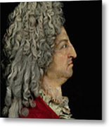 Louis Xiv 1638-1715 1706 Mixed Media Metal Print