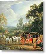 Louis Xiv In His State Coach Metal Print
