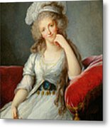 Louise-marie Adelaide, Duchesse Dorleans Oil On Canvas See Also 91622 Metal Print
